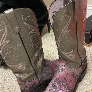 Lucchese pink cowgirl cowboy boots